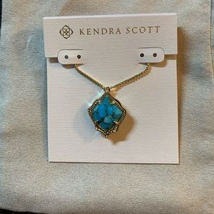NWT gold and bronze veined turquoise Kacey